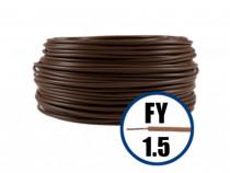 Conductor fy 1.5 - 100 m - maro - cablu curent cupru-h07v-u