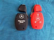 Husa Pt Cheie Auto Silicon 3 butoane Mercedes Clasa A,C,E,S