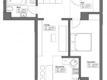 Complex Himson, Apartament 2 camere open space 44,98mp