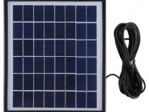 KIT Panou solar 22.5 x 19.5 cm + baterie + 2 becuri
