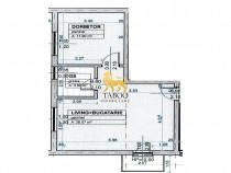 Apartament etaj 1 in Calea Cisnadiei 2 camere de 42 mp