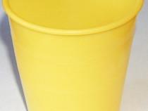 Pahar plastic galben
