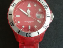 Ceas de mana - Q&Q (model A430J015Y) plastic Rosu