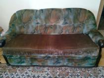 Set canapele lemn si fotoliu