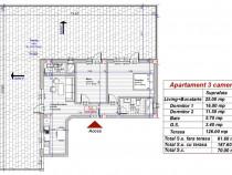 Apartament 3 camere 2 bai penthouse 62+126(terasa) turnisor