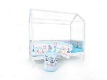 Pat casuta BabyTime/stil Montessori + saltea ortoped inclusa
