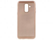 Husa Telefon Plastic Samsung Galaxy A6 2018 a600 Mesh Gold