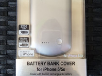 Husa cu baterie iphone 5/5S 2200mah noua