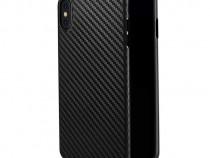 Husa Telefon Plastic Apple iPhone X iPhone XS Black Carbon