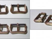 2 catarame de curea ceas dama, vechi, placate cu aur