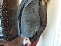 Vesta accesorizata cu blana
