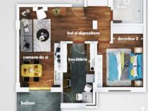 Apartament 2 camere Nicolina-5min, Pd Ros, Bl `95, 46mp