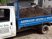 Livrare pamant negru vegetal