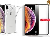 Iphone x xs 10 xr xs max pachet husa silicon + folie stilca