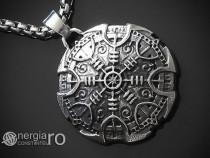 Amuleta Talisman Pandantiv Roata Norocului INOX - cod PND108