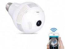 Camera Video de Supraveghere tip Bec Wirelees cu IP