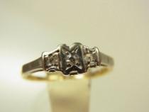 Inel antik aur 14k cu diamant