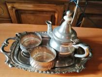 Serviciu vintage ceai/cafea din metal