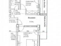 Apartament 2 camere,56mp,Bloc nou tip Vila,Pacurari - Piată