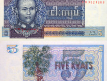 Lot 13 bancnote MYANMAR / birmania 1972-2004 - UNC