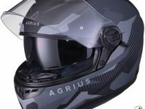 Casca moto agrius tracker sv - negru mat - noua - s,m,l,xl