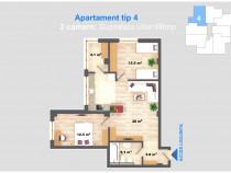 Apartament 3 camere, 66 mp, cug - cel mai mic pret din iasi