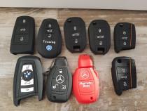 Husa Silicon Logo Cheie BMW,Mercedes,VW Passat B8,Golf7