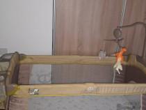 Patut pliabil bebe(120x60) + saltea patut cocos (120x60)