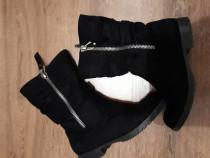 Cizme negre Graceland Deichman imblanite marime 36