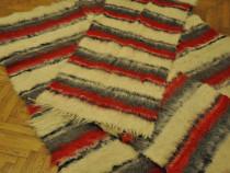 Set 3 covoare de lana, covor lucrat manual, unicat