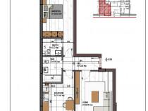 Apartament 2 camere foarte spatioase, metrou Nicolae Teclu
