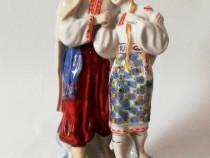Statueta portelan Indragostitii anii 70 Rusia Polonne ZHK