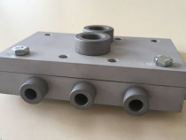 Sablon mobila minifix15 de 24 sau 34mm duraluminiu forma L