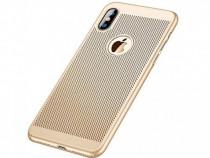 Husa Telefon Plastic Apple iPhone XS Max Mesh Gold NOU
