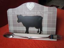 Decoratiune suport vintage pt carte retete-Franta '80 -cadou