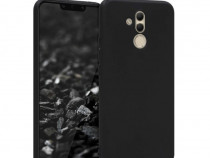 Huawei Mate 20 Lite - Pachet Husa Silicon Clara/Neagra + Fol