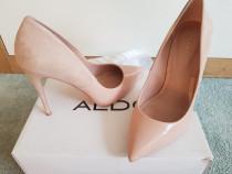 Pantofi aldo piele intoarsa+piele lac