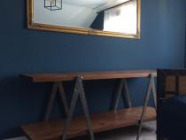 Masa in stil industrial din lemn masiv