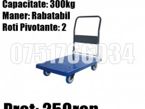 Platforma Liza Carucior Transport Marfa Bidoane Colete 300kg