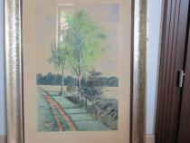 Cadou deosebit - tablou pictat 1941, semnat , rama lemn