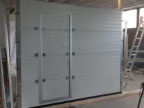 Usa de garaj 3000x2900 gri antracit cu acces pietonal