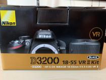 Nikon D3200 kit 18-55mm VR II aproape nou +accesorii