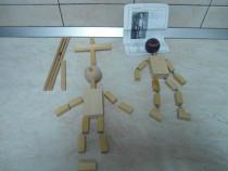 Jucării din lemn,2 marionete pe sfori