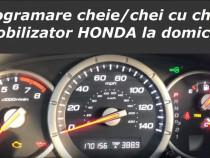 Programare codare cheie chei cu chip si imobilizator Honda