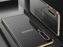 Samsung A40 A50 Husa Luxury Din Silicon Transparenta Colorat