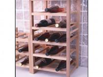 Raft din lemn masiv - 9 sticle de vin - calitate foarte buna