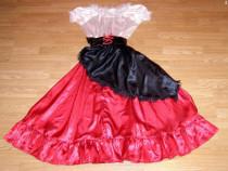 Costum carnaval serbare rochie dans flamenco pentru adulti S