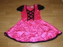 Costum carnaval serbare rochie barbie printesa 7-8 ani