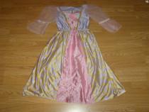 Costum carnaval serbare rochie barbie printesa 4-5 ani