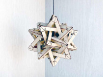 Lampa ornamentala din placaj